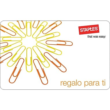 Staples® Regalo Para Ti Gift Card, $50