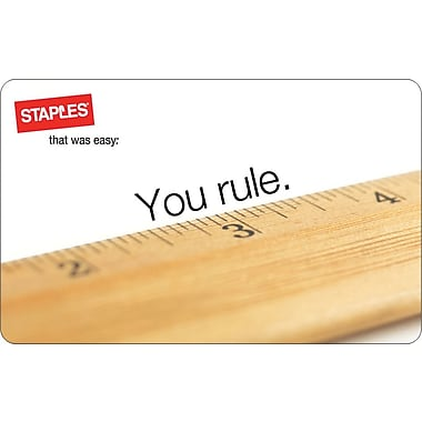 Staples® Ruler Gift Card, $25