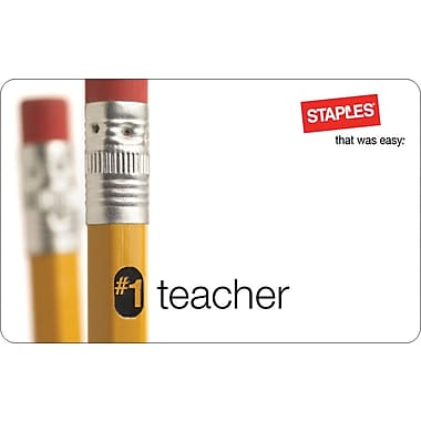 Staples® Teacher Gift Card, $100
