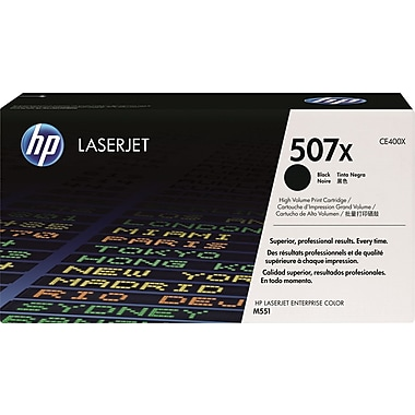 HP 507X (CE400X) Black High Yield Original LaserJet Toner Cartridge