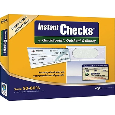 Global Biz Force Instant Checks #1000, Business, Green 250 [Boxed]