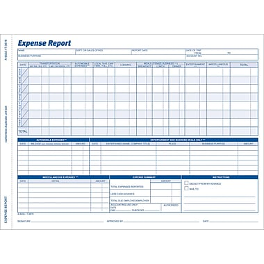 Adams® Weekly Expense Report