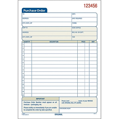 Adams® Carbonless Purchase Order Book, 5-9/16
