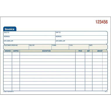 Adams® Carbonless Invoice Form Books