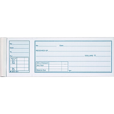 Adams Receipt Books, 7-15/16in. x 2-3/4in., 1 Part
