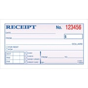 "Carbonless Money/Rent Receipt Books, 2-Part, 2 3/4"" x 5 3/8"""