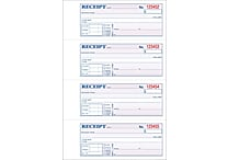 Adams® Carbonless Money/Rent Receipt Books 7-5/8' x 11' 3-Part 100/Book (TC1182)
