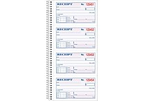 Adams® Carbonless Money/Rent Receipt Books, Spiral Bound, 5-1/4' x 11', Two-Part, 200/Book (SC1152)
