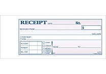 Adams® Carbonless Money/Rent Receipt Books, 2-3/4' x 7-3/16', 3 Part