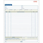 Adams® Carbonless Purchase Order Books, 8-3/8 x 10-11/16, 3-Part