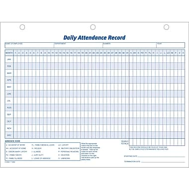 Adams® Daily Attendance Records, 11