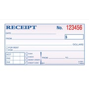 Adams® Carbonless Receipt Books, 5-3/8 x 2-3/4, 2 Part
