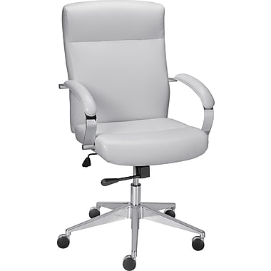 Staples Belsante Bonded Leather Mid-Back Chair,