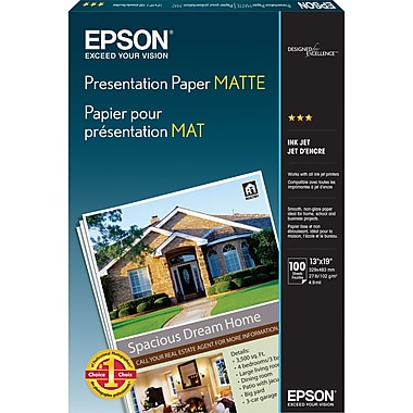 Epson® Presentation Paper, Matte Finish, 13