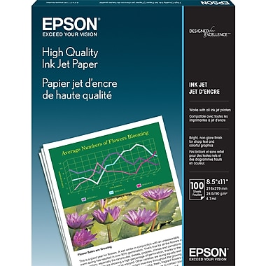 Epson® High Quality Inkjet Paper, Matte Finish