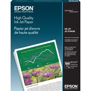 Epson® High Quality Inkjet Paper 8.5 x 11 White 100 Matte Finish (S041111)