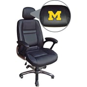 Wild Sports NCAA Leather Executive Chair, Michigan Wolverines