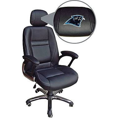 Wild Sports NFL Leather Executive Chair, Carolina Panthers