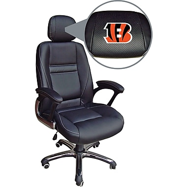 Wild Sports NFL Leather Executive Chair, Cincinnati Bengals