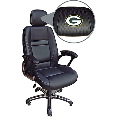 Wild Sports NFL Leather Executive Chair, Green Bay Packers