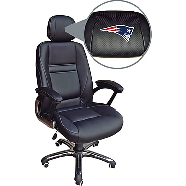 Wild Sports NFL Leather Executive Chair, New England Patriots