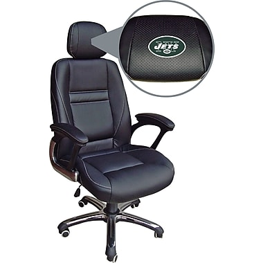 Wild Sports NFL Leather Executive Chair, New York Jets