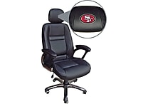Wild Sports NFL Leather Executive Chair, San Francisco 49ERS