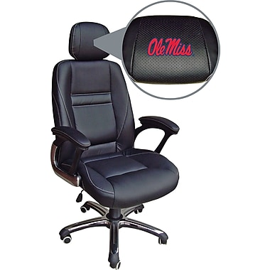 Wild Sports NCAA Leather Executive Chair, Mississippi Rebels