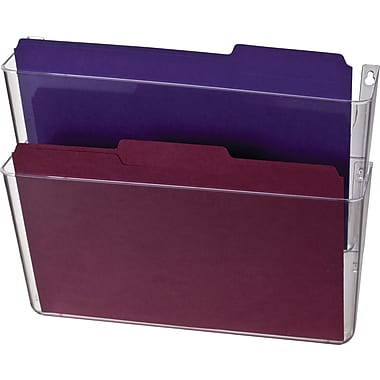 Officemate® Wall Files, 2 Pockets, Letter, Clear, 13in. x 4 1/8in. x 10 5/8in.