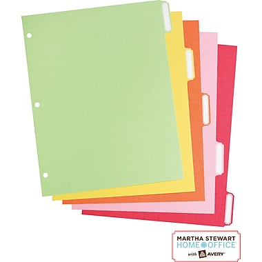 Martha Stewart Home Office™ with Avery™ Paper Dividers Assorted, Classic, 8-1/2in. x 11in.