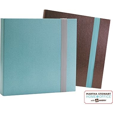 Martha Stewart Home Office™ with Avery™ Fabric Elastic Bands Blue and Gray, 1in. x 8-1/4in.