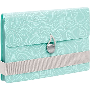 Martha Stewart Home Office™ with Avery™ Poly Accordion File, Blue Wave, 7 Tabs, 8 Pockets