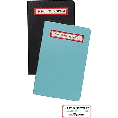 Martha Stewart Home Office™ with Avery™ Textured Labels, Red, Rectangle, 9/16in. x 2-1/2in., 48/Pack