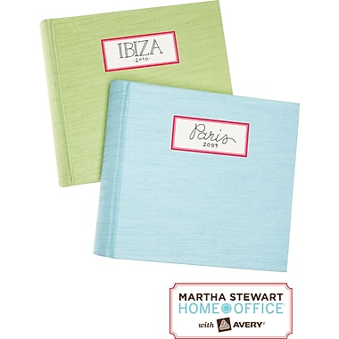 Martha Stewart Home Office™ with Avery™ Textured Labels, Red, Rectangle, 1-5/8in. x 3-3/4in., 18/Pack