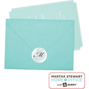 Martha Stewart Home Office™ with Avery™ Silver Mailing Seals, Scallop, 1-5/8, 36/Pack