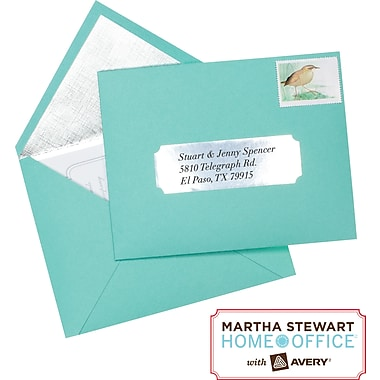 Martha Stewart Home Office™ with Avery™ Metallic Labels, Silver, Classic, 1-5/16in. x 4in., 42/Pack