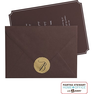 Martha Stewart Home Office™ with Avery™ Embossed Mailing Seals, Gold, 1-5/8in. x 1-3/4in., 18/Pack