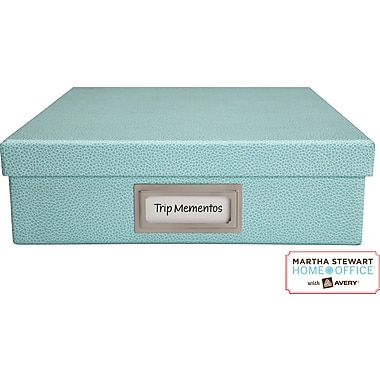 Martha Stewart Home Office™ with Avery™ Adhesive Metal Bookplate Silver Horizontal 1-7/16in. x 3-1/16in.