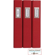 Martha Stewart Home Office™ with Avery™Adhesive Metal Bookplate Silver Vertical 1-1/16 x 2-1/8