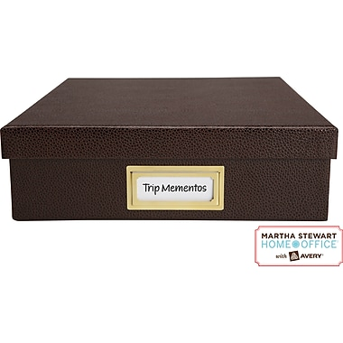 Martha Stewart Home Office™ with Avery™ Adhesive Metal Bookplate Horizontal Copper 1-7/16in. x 3-1/16in.