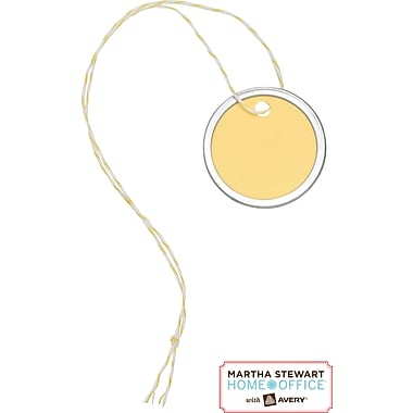 Martha Stewart Home Office™ with Avery™ Small Metal-Rim Tags, Yellow, 1-1/4in.