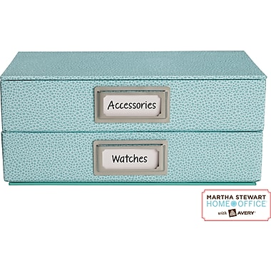 Martha Stewart Home Office™with Avery™Adhesive Metal  Bookplate Silver Horizontal 1-1/16in. x 2-1/8