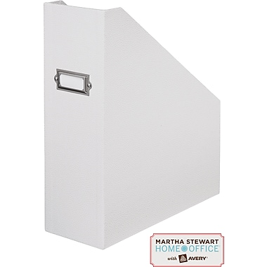 Martha Stewart Home Office™ with Avery™ Stack+Fit Shagreen Magazine File, White