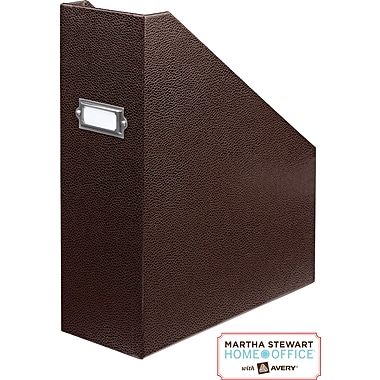 Martha Stewart Home Office™ with Avery™ Stack+Fit™ Shagreen Magazine File, Brown
