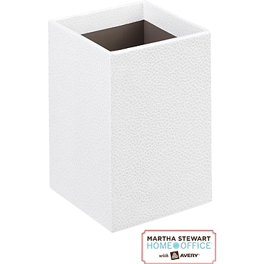 Martha Stewart Home Office™ with Avery™ Stack+Fit™ Shagreen Pencil Cup, White