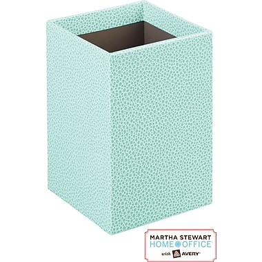 Martha Stewart Home Office™ with Avery™ Stack+Fit™ Shagreen Pencil Cup, Blue