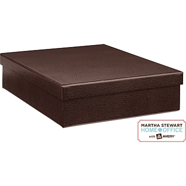 Martha Stewart Home Office™ with Avery™ Stack+Fit™ Shagreen Document Storage Box, Brown