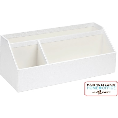 Martha Stewart Home Office™ with Avery™ Stack+Fit™ Shagreen Organizer, White