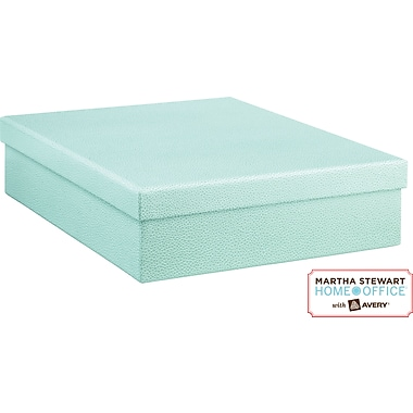 Martha Stewart Home Office™ with Avery™ Stack+Fit™ Shagreen Document Storage Box, Blue