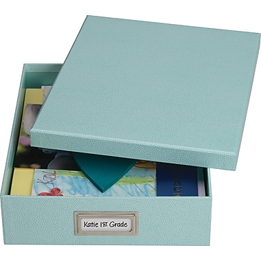 Martha Stewart Home Office™ with Avery Stack+Fit™ Shagreen Document Storage Boxes